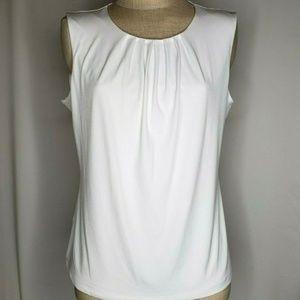 Calvin Klein Pleated Neck Sleeveless Size 14